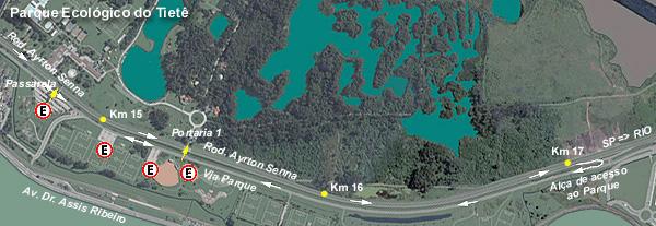 Mapa do EstacionamentoParque Ecológico Tietê