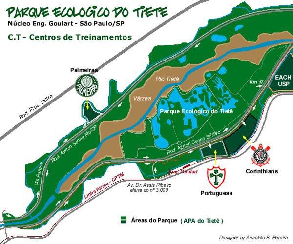 Mapa Parque Ecológico do Tietê